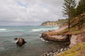 Landscape Of The Rocky Coastline Norfolk Island W
