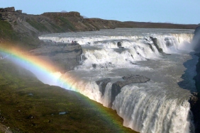 Gullfoss or Golden Waterfall Iceland