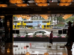 Hong Kong Street From a Flash Hotel