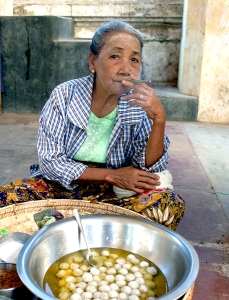 Egg Seller at a Temple in Bagan