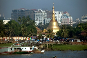 View of Yangon from The River
