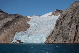 Glacier Prince Christian Sound Greenland