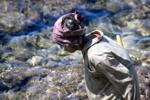 Elderly Seaweed Farmer On  Nusa Penida W