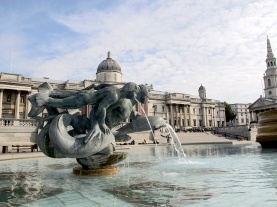 Fountain in Trafalgar Square  London