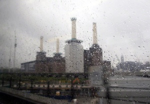 Battersea Power Station in the Rain London