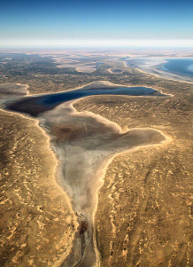 Portrait of Lake Eyre Approach View